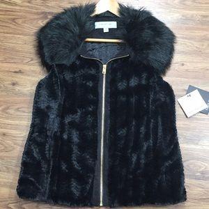 Marc New York Faux Fur Black Vest Medium